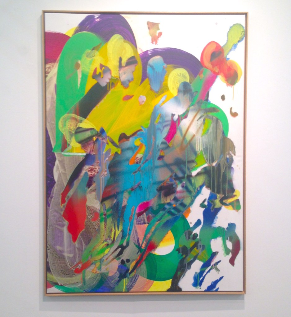 Katharina Grosse, o.T., 2014, Acrylic on canvas, framed, Johann Konig, Berlin, Photograph by Katy Hamer, The Armory Show, 2015