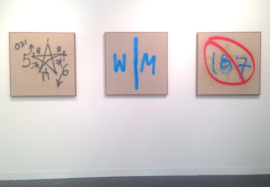 Paul Fägerskiöld, Installation view, Paintings on canvas, Galerie Nordenhake, Berlin and Stockholm, The Armory Show, New York, Photograph by Katy Hamer, 2015