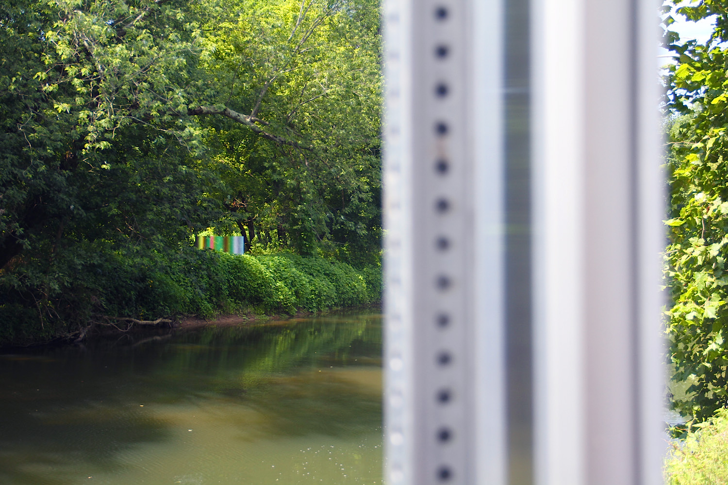 "James Welling, ""Gradients"" (front in distance and back in foreground), Installed on the property of the Brandywine River Art Museum, Chadds Ford, Photograph by Job Piston, 2015"