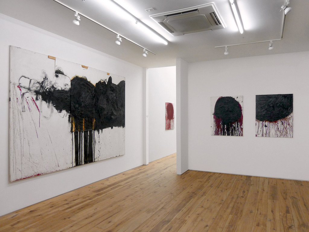 Hermann Nitsch, Installation view at Marc Strauss Gallery, NY, Photograph courtesy of the gallery, 2015