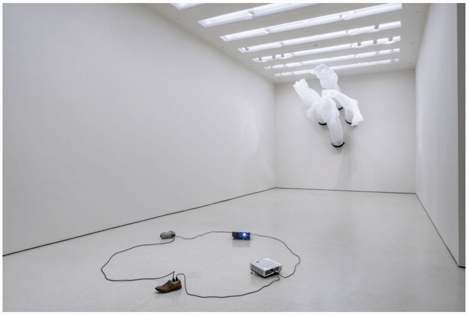 Installation view, The Hugo Boss Prize 2014: Paul Chan, Nonprojections for New Lovers, Solomon R. Guggenheim Museum, New York, 2015, Image courtesy of the Guggenheim and Greene Naftali Gallery