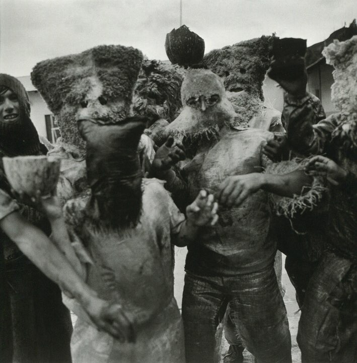 "Rosalind Fox Solomon ""Carnival Masks, Huari, Peru"" 1981, Gelatin silver print, Signed and dated on verso, 20 x 16 inches"