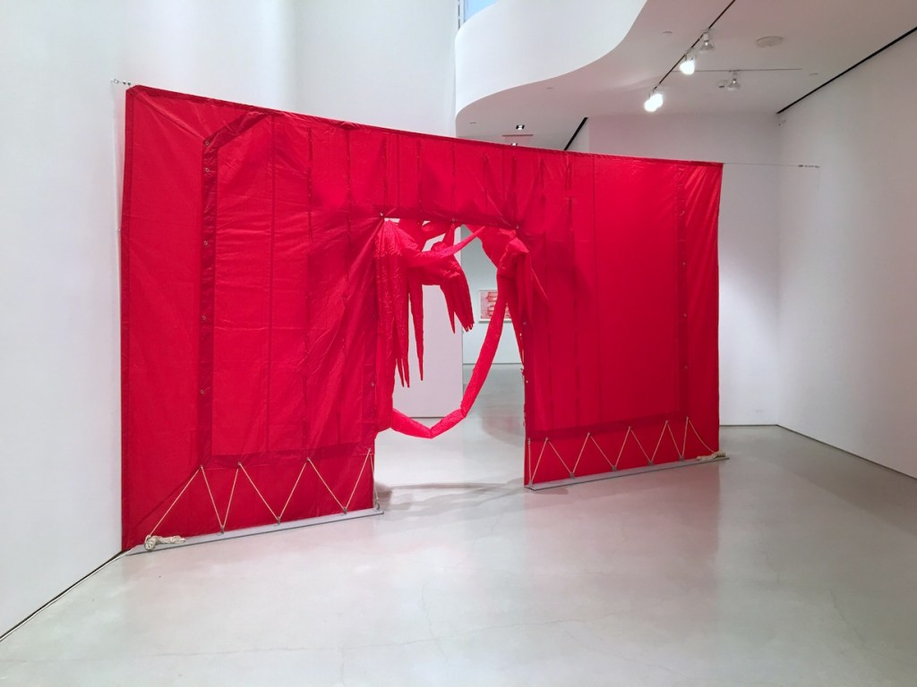 Otto Piene, Red Sundew 2, (1970) Installation view, Sperone Westwater, NY, Photograph by Jongho Lee, 2016