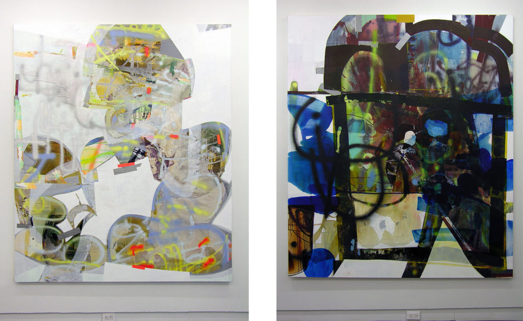 "Erika Ranee, Right: ""Ipswich,"" (2016) left: ""Big People,"" (2016). Images courtesy of the gallery, 2016"