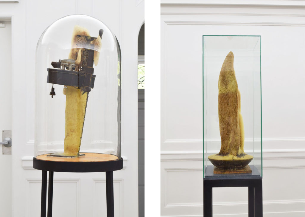 "Garnett Puett, Left: ""Shock Box,"" (1987) Right: ""Soul Spur,"" (1996-2016). All images courtesy of the artist and Jack Shainman Gallery."