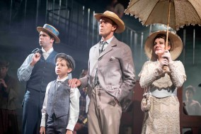 Jonathan Stewart, Ethan Quinn, Earl Carpenter and Anita Louise Combe in Ragtime. Photo: Annabel Vere
