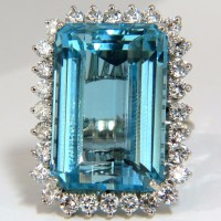 Exquisite Vivid Sea Blue Aquamarine Gemstone Jewelry