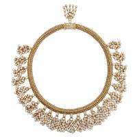 An Exquisite Veronique Bamps Diamond Gold-chain Choker Necklace