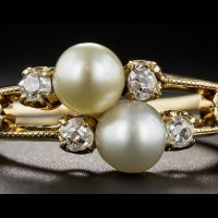 A Gorgeous Antique Natural Pearl and Diamond Two-in-One Ring