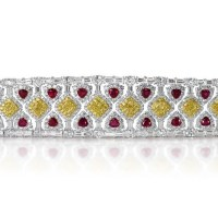 A Gorgeous Burmese Rubies and Fancy Yellow Diamonds Bracelet