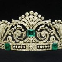 A Gorgeous An Emerald and Diamond Tiara by Marzo