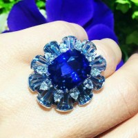 A Gorgeous Sapphire and Aquamarine Ring by Van Cleef & Arpels
