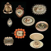 Vintage Gemstone and Diamond Eye Miniatures