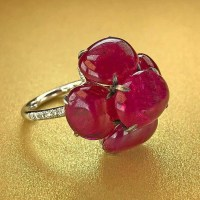 Burmese Cabochon Ruby Ring