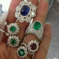 Emerald, Ruby, Sapphire and Diamond Rings