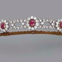 An Antique Ruby and Diamond Tiara