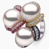 Belgravia South Sea Pearl, Sapphire and Diamond Ring in 18ct White Gold