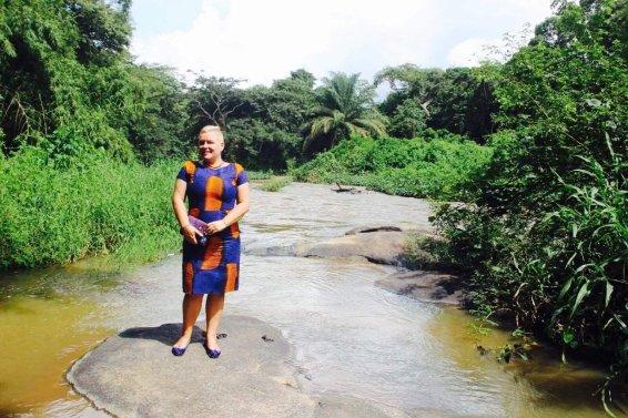 Sandra Alonge at Osun Grove - Photo by Bolaji Alonge