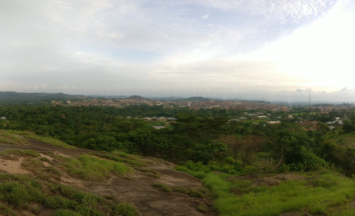 Ilupeju Ekiti, from the top of Oke Asegun.