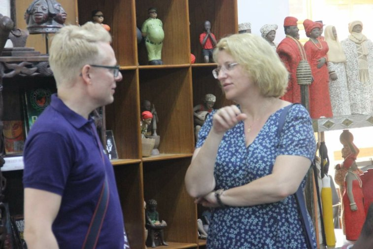 Friederike Moeschel of Goethe Institut Lagos and Tobias Wolfgarten