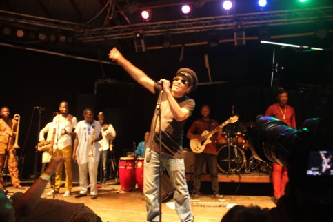 Majek Fashek performing at the Afropolitan Vibes, Freedom Park Lagos (2017) - Photo by Eyes of a Lagos Boy