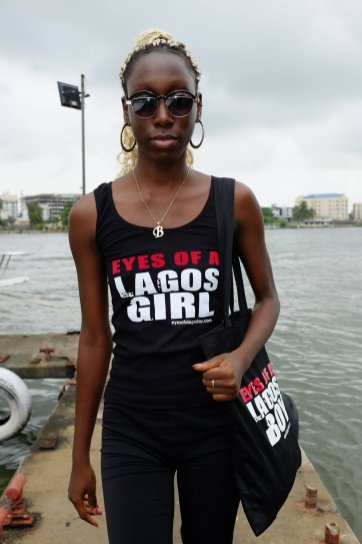 Eyes of a Lagos Girl tank top