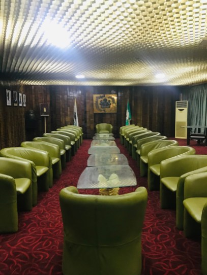 VIP conference room and lounge - Photo by Eyes of a Lagos Boy