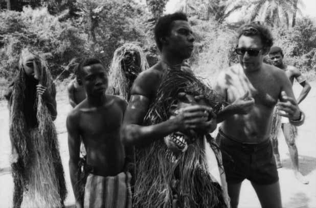 John Sekka with director Jason Pohland., Nigeria 1970 - Stephen Goldblatt
