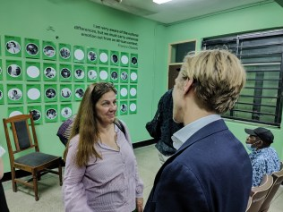 Mareike Palmeira in a chat with Alexander Ernst, Deputy Consul German Consulate Lagos - Eyes of a Lagos Boy