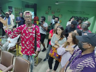 Curator Didi Cheeka and guests - Eyes of a Lagos Boy