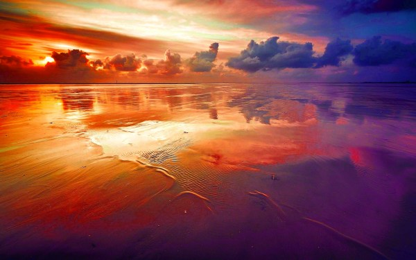 beautiful rainbow colored landscapes
