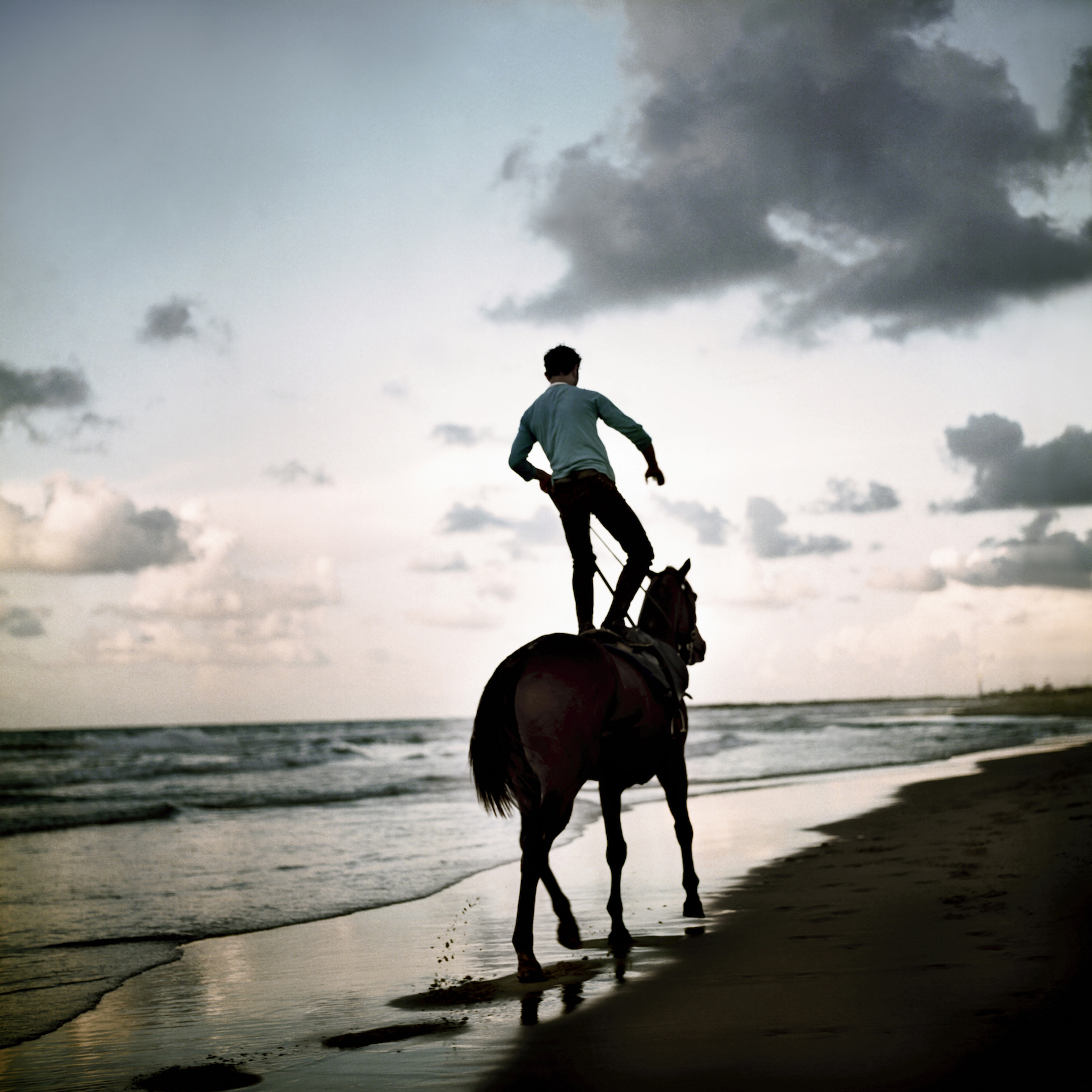 Abdallah rides his horse at dusk, a few days after a truce was announced and Operation pillar of Defense ended. Earlier in the week, riding on the beach would have been impossible due to the war. Abdallah works with his brother, together they perform on horseback in weddings and parties across, just like their father used to do. When asked about his future dreams and aspirations he says: To stay with my horse all the time, all my life.