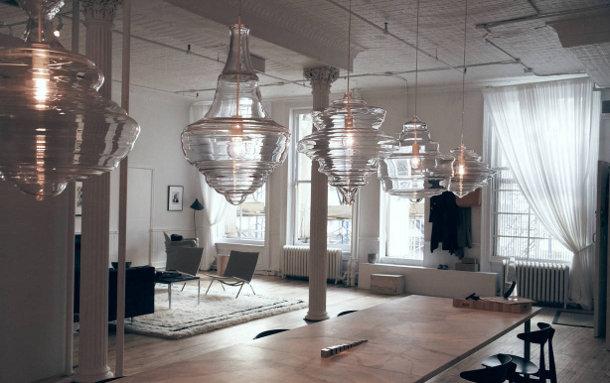 5 glazen hanglampen genspireerd door 5 klassieke