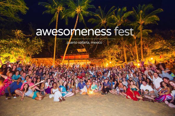 Awesomenessfest - Lara Berg - Eyes Wide Open Life - Group Photo