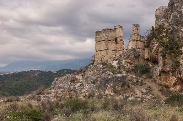 Acropolis Hill from West Side. Tlos Fethiye Turkey. Colour landscape. P.Maton 06/09/2014 eyeteeth.net