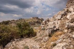 Acropolis Hill from South Side. Tlos Fethiye Turkey. Colour landscape. P.Maton 06/09/2014 eyeteeth.net