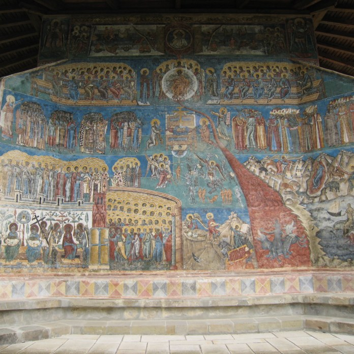 Painting outside Voronet Monastery, Bucovina
