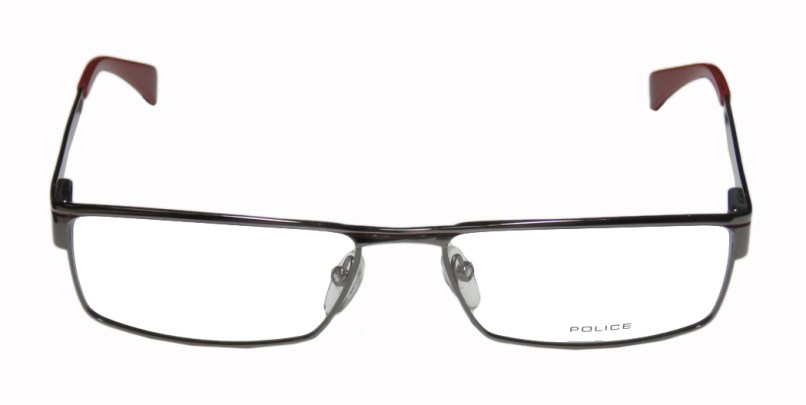 a7a3ac9ec8a Men S Police V8371 0568 Full Rim Eyegl With Metal Frames 104