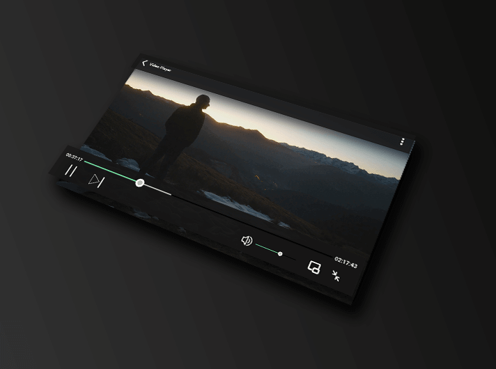 Video Player PSD Mockup