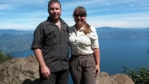 In front of Lake Atitlan