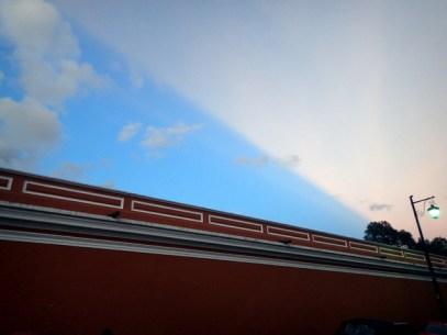 Strange light effect in the sky