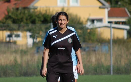 Camilla Erkisi: Matchvinnare för ÖSK Söder med två mål mot Västerås BK30.