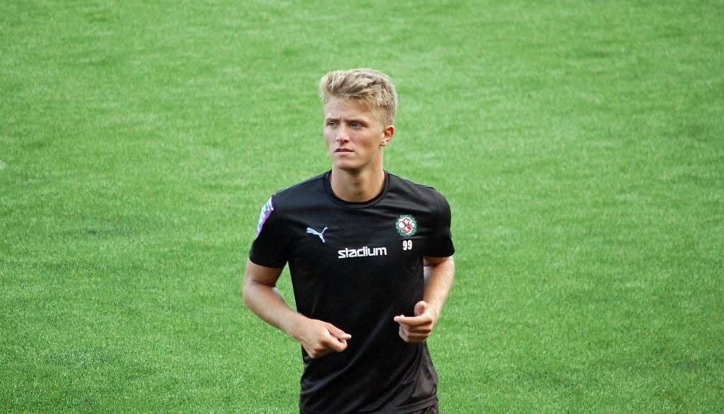 Anton Westerlund gjorde ÖSKs mål mot AIK.
