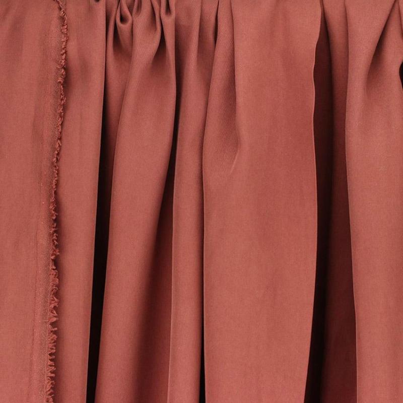 Tissus Tencel Edward Brique © Eyrelles Tissus