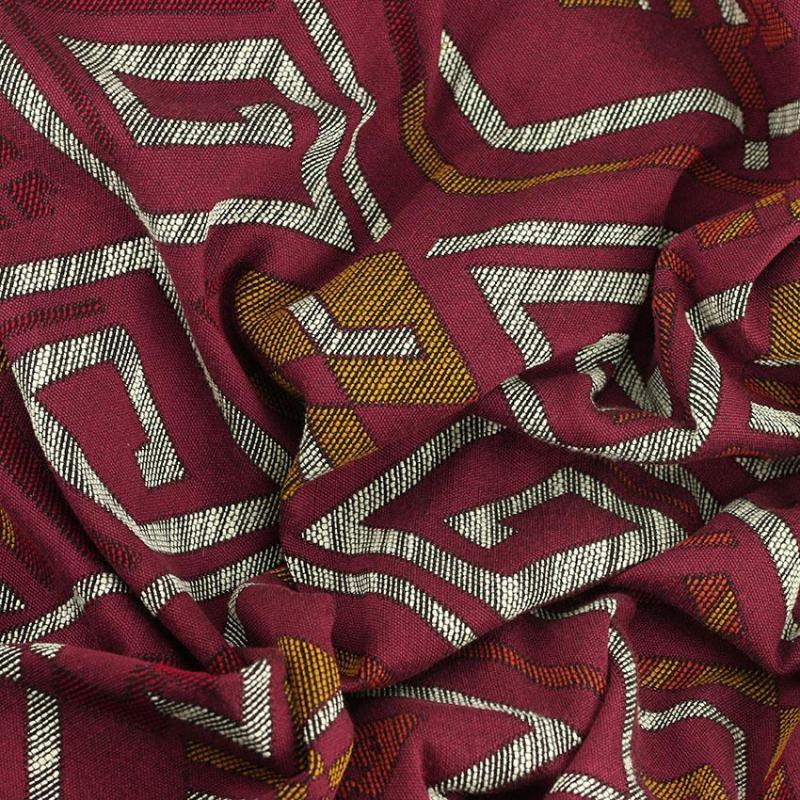 Tissu Jacquard Salta rouge © Eyrelles Tissus