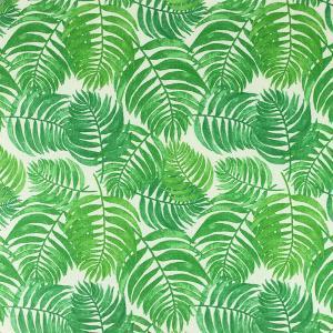 """Toile enduite polycoton """"Feuillage - Vert"""" l © Eyrelles tissus"""