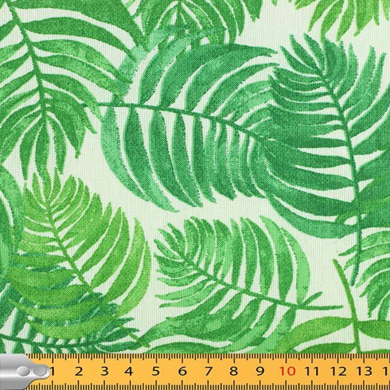 """Toile enduite polycoton """"Feuillage - Vert"""" l © Eyrelles tissusToile enduite polycoton """"Feuillage - Vert"""" l © Eyrelles tissus"""