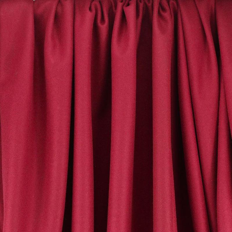 Drap de laine tissus diane rouge opéra © Eyrelles tissus