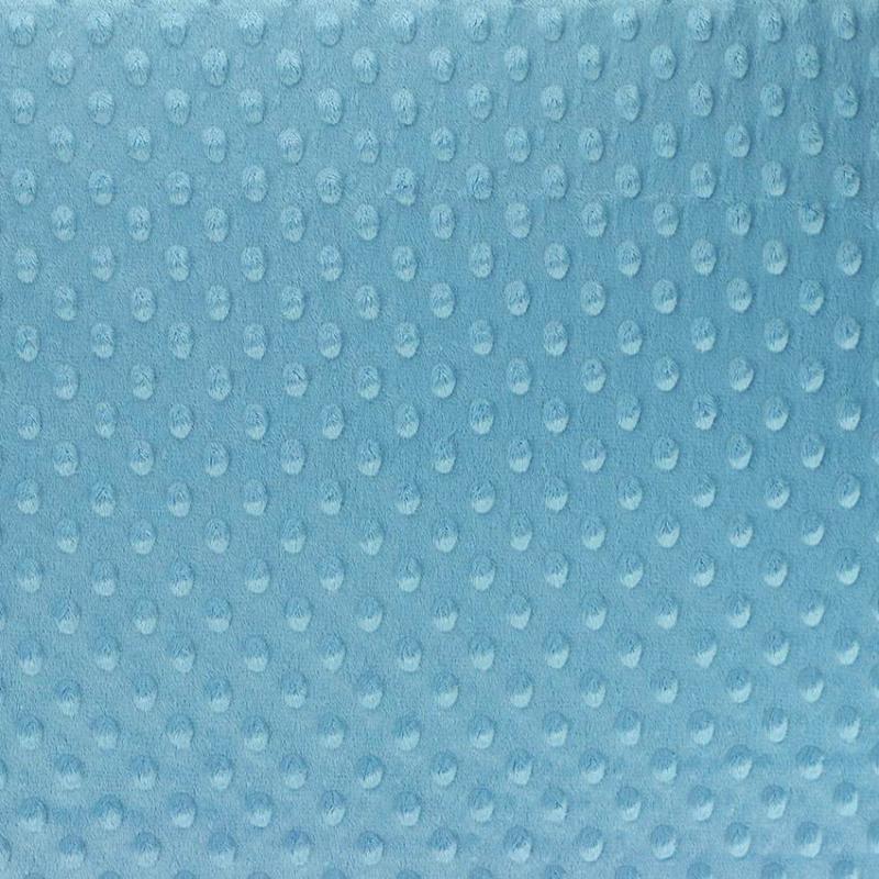 """Tissus Minky à pois """"Dolce - Bleu Foncé"""" © Eyrelles Tissus"""
