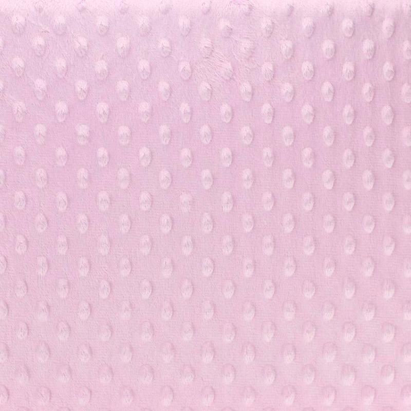 "Tissus Minky à pois ""Dolce - Rose Clair"" © Eyrelles Tissus"